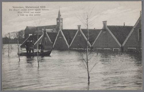 Overstroming 1916, Volendam (bron: collectie Volendams Museum)